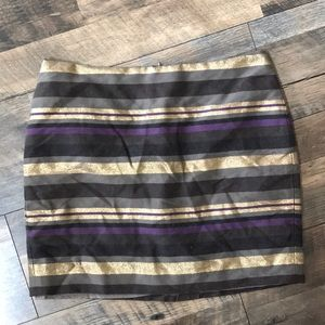 Banana republic gold and purple skirt